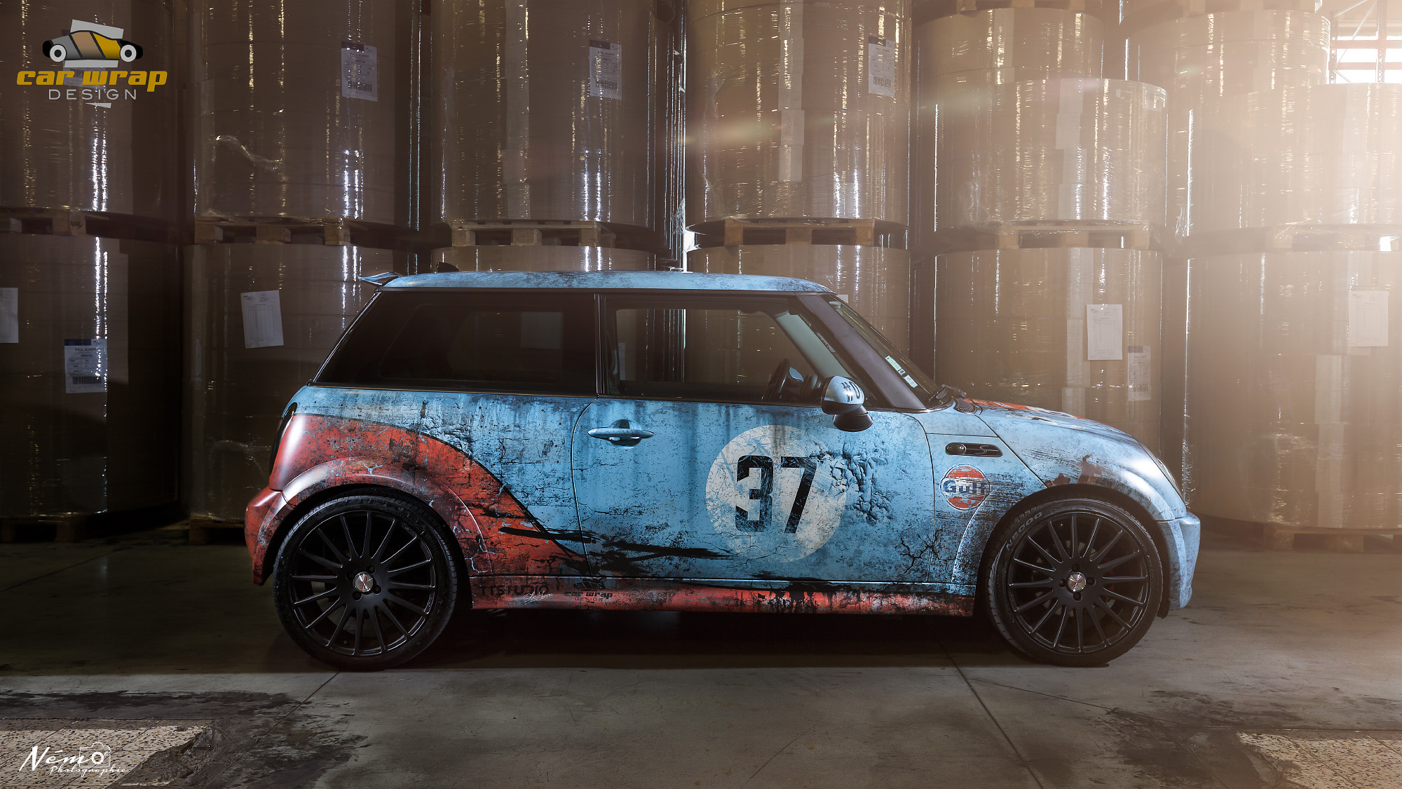 💥 Mini cooper used Gulf design 💥