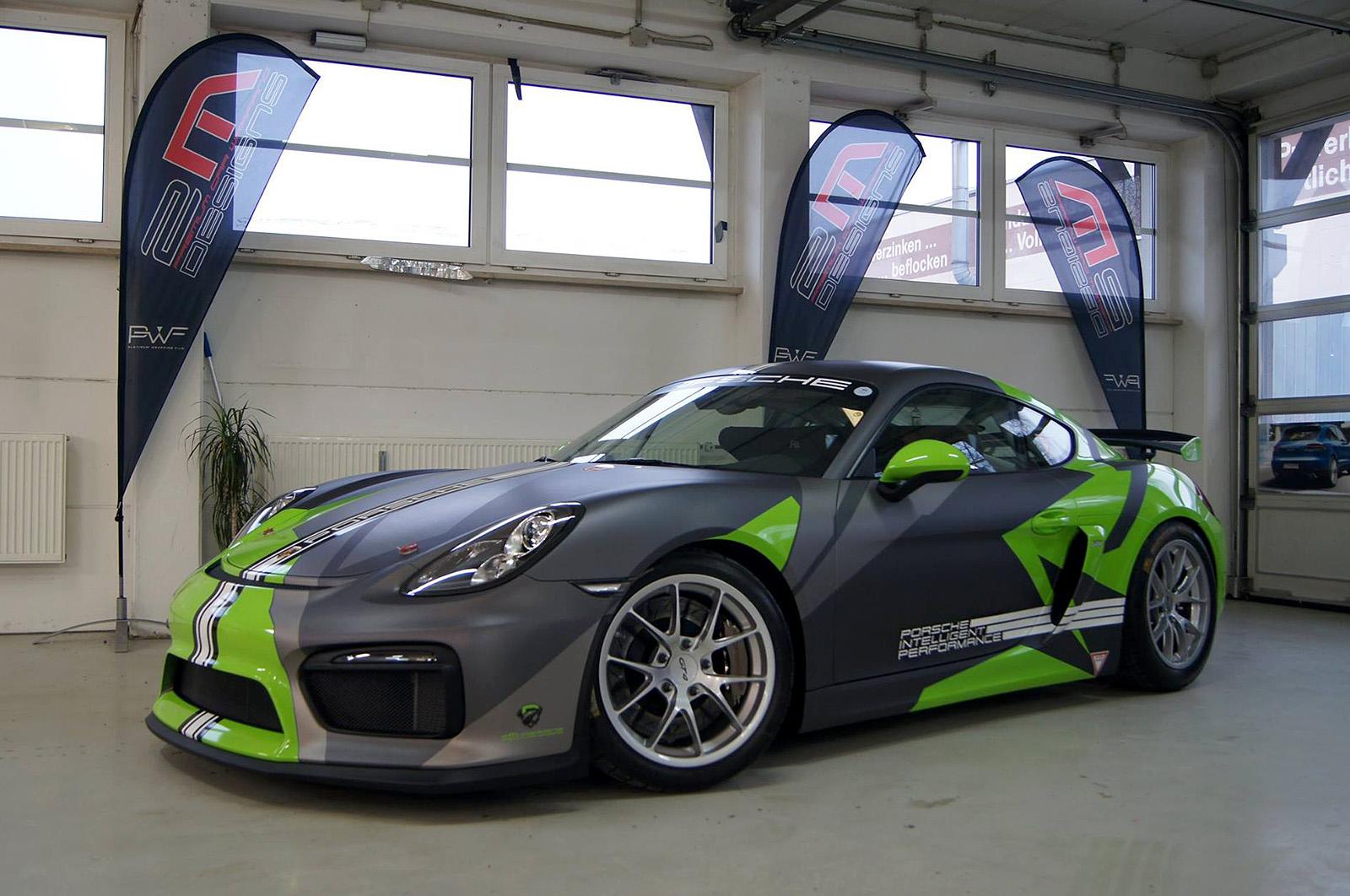 💥 Porsche Cayman GT4 grey/green livery 💥
