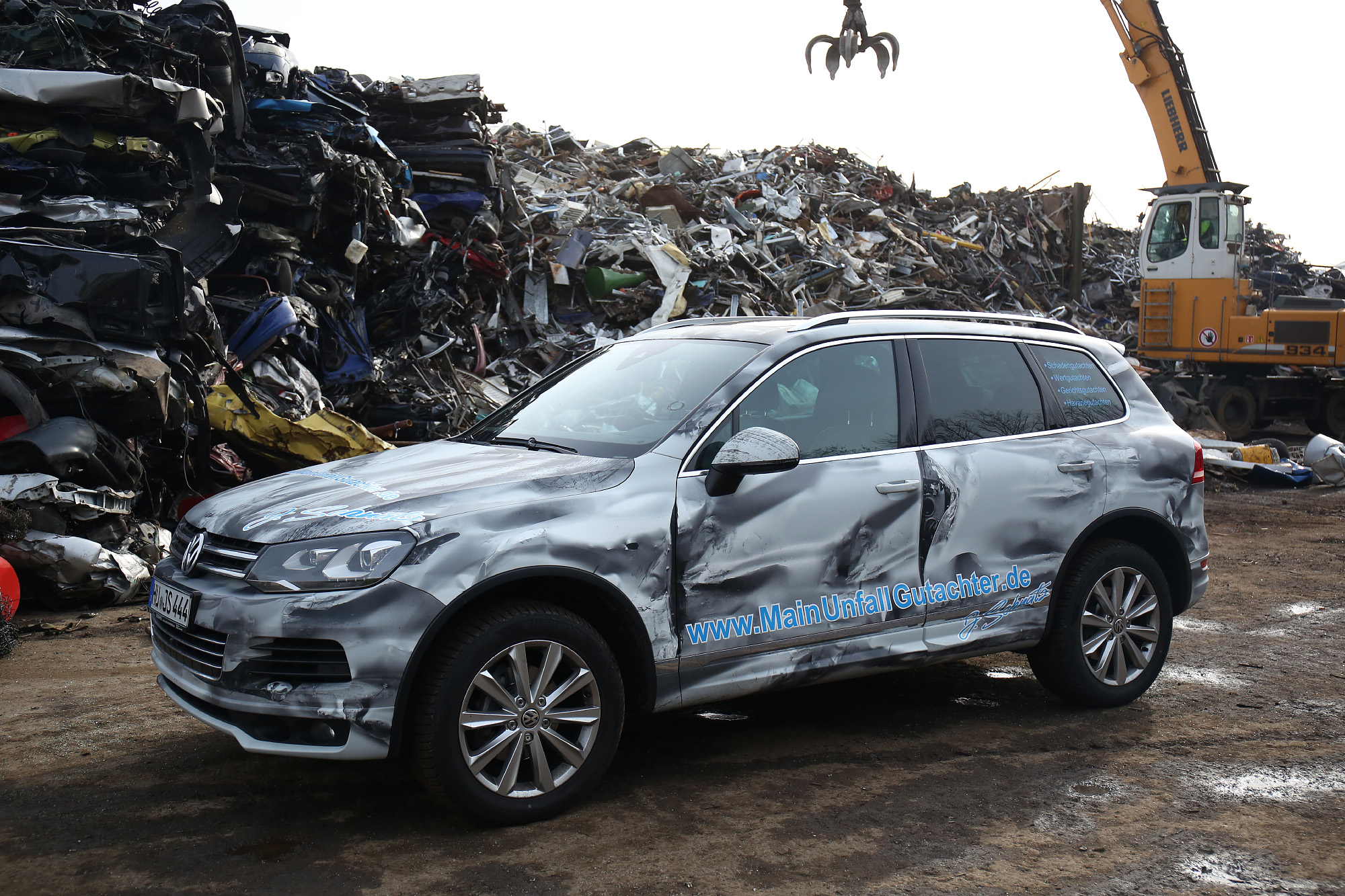 💥 Accident battered Touareg 💥